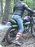 Enjoying the motorcycle