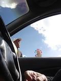 Jerking off in car being watched -2