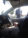 Jerking off in car being watched -3