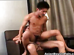 Check out this tight ass Asian twink bounces up and down on a hard dick.