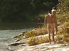 These men take a trip to the beach where they swap blowjobs.