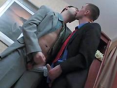 Gay office anal sex scene