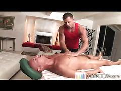 Handjob and toy play massage