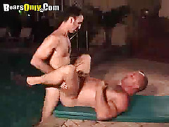 Hairy Daddy Gets Some Huge Cock Boning