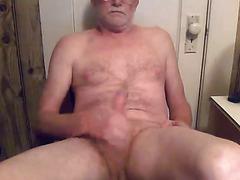 Old hairy guy amateur masturbation
