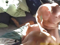 Young Latino and mature have sex