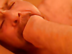 gorgeous submissive bear sucking my cock