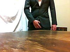 cumshot in suit