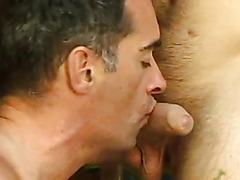 This mature stud has a great body and he loves a younger cock.