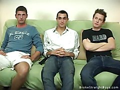 Three broke straight boys get nude for the first time on film and make some cold hard cash.