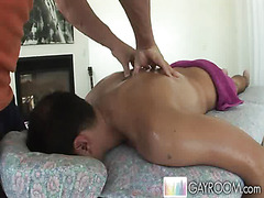 Back massage from a hunk