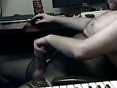 Jerking off in nylon lingerie