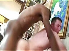 Black Cock Empty`s  A Big Load In White Ass