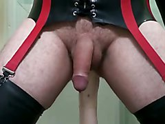 Rubber Stockings, Rubber Waders and LARGE Rubber Dildo