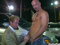 Car salesman fucked on lot