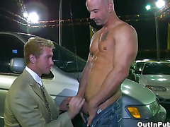 Anal pounding in parking lot