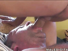 Hard cock in hairy ass