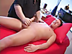 Gay massage for his cock