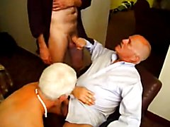 Older guys in threesome