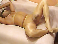 Dude covered in pantyhose