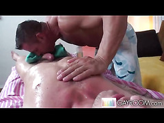 Oil massage and oral sex