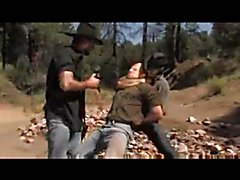 Cowboy fucked by two bandits