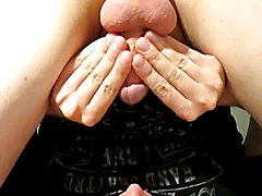 Expert edging lesson: huge gooey cumshot in mouth