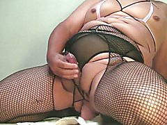 Hard wanking & cumming with riding dildo Oct-25-2014