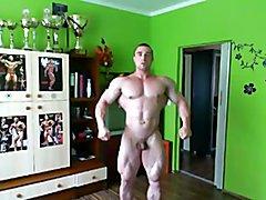 Str8 bodybuilder massive flexing  scene 3