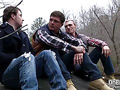 Three friends decide to fuck their buddy in his ass  scene 2