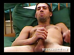 Straight Mature Street Guy Strokes His Cock