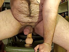 Warming up with a white dildo, then a huge black one deep!