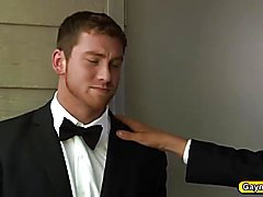 The groom is having hot anal threesome