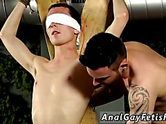 Sexy muscular naked men Reece is the unwilling blindfolded victim, with Adam wanking and