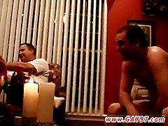Amateur gay boy male wanking Joe Services Two Hard Cocks