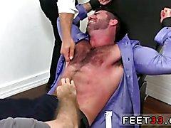 Gay movie tormenting feet Billy Santoro Ticked Naked