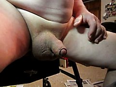 70 yrold Grandpa #208 uncut cum close mature solo wank