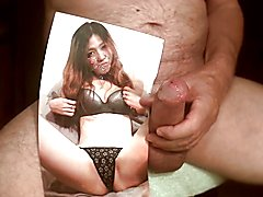 Tribute for jessinta - facial cum on mouth tits and pussy