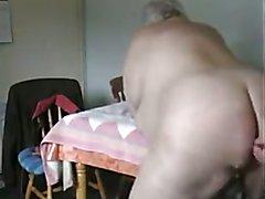 Fat Old Chubby bareback fuck !