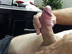 Mutual big cock stroking