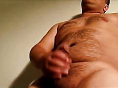 Sexy hairy chub masturbating