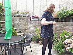 Sexy Crossdresser Alison playinging in the garden