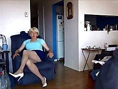 Naughty Gigi Wobbly In White Heels