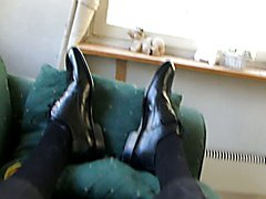 Cum in men's dress shoe  scene 6