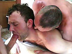 slut fucked by two horny married daddies (with sweet kiss)