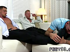 Boy bikini porn and movies about first time gay sex Ricky Worships Johnny & Joey's Feet
