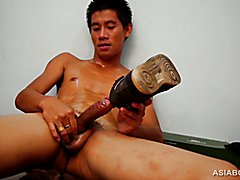 Gay Asian Twink Big Beats Off