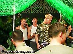 Nude gay group and miami gay underwear party movies Dozens of boys go bananas for bananas