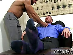 Gay sexy hairy male legs Hugh Hunter Worshiped Until He Cums