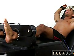 Older gay men feet Mikey Tickle d In The Tickle Chair
